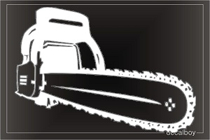 Chainsaw Tool Car Decal