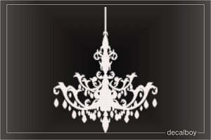 Chandelier Car Decal