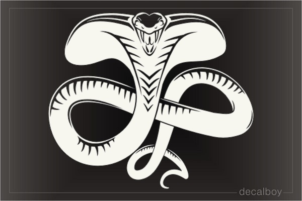Charging Tribal Cobra Decal