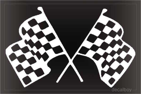 Checker Flag 3120 Window Decal