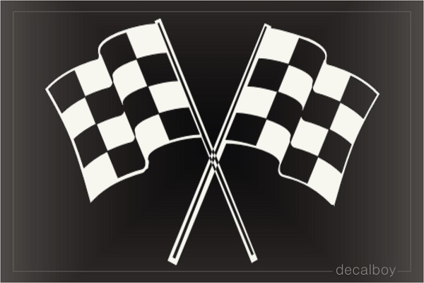 Checkered Flag 4520 Window Decal