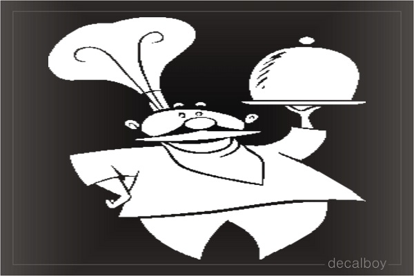 Chef Hat Car Decal