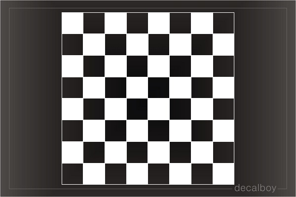 Chess Desk Window Decal