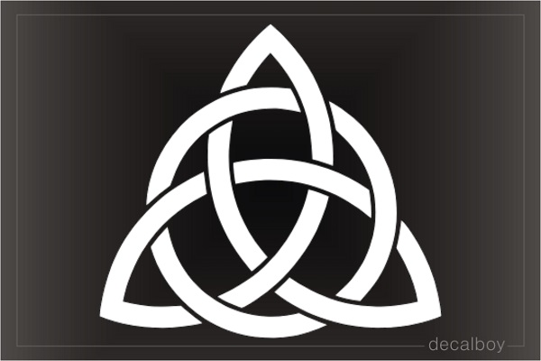 Christian Trinity Kno Triquetra Decal