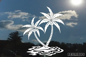 Coconut Palm Trees Island Decal