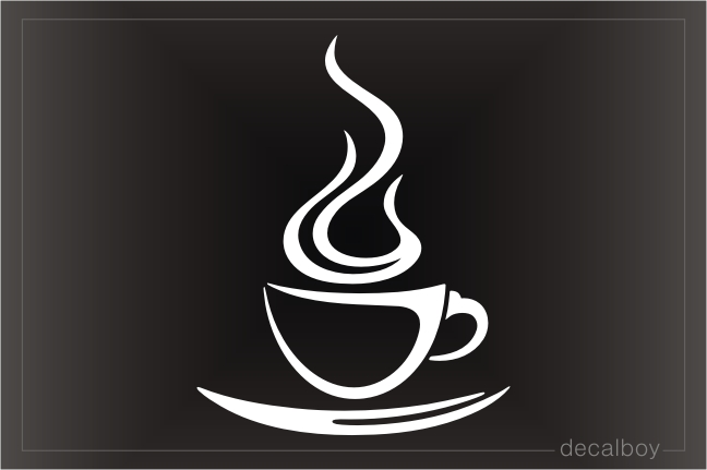 Coffee Steam Decal
