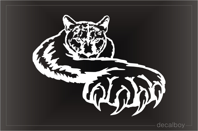 Cougar Puma American Panther Paw Decal