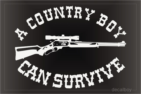 Country Boy Can Survive Car Decal