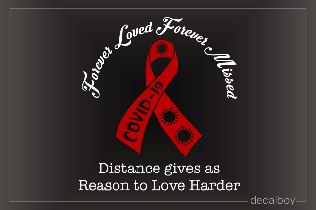 Covid 19 Ribbon Memorial Car Decal