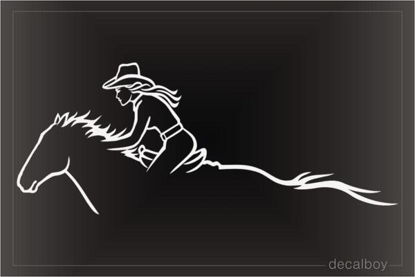 Cowgirl Decals Stickers Decalboy