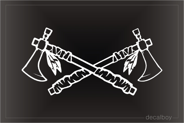 Crossed Tomahawks Decal