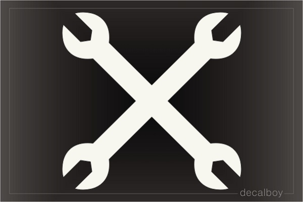 Crossed Wrenches Decal