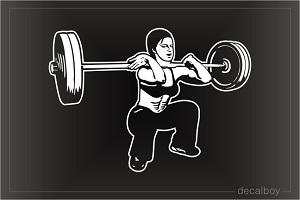 Weight Training Oval Decal Bodybuilding weight lifting emblem logo sticker