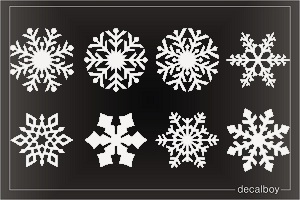 Crystal Snowflakes Decal