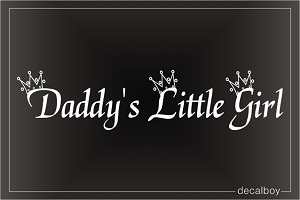 Daddys Little Girl Car Decal