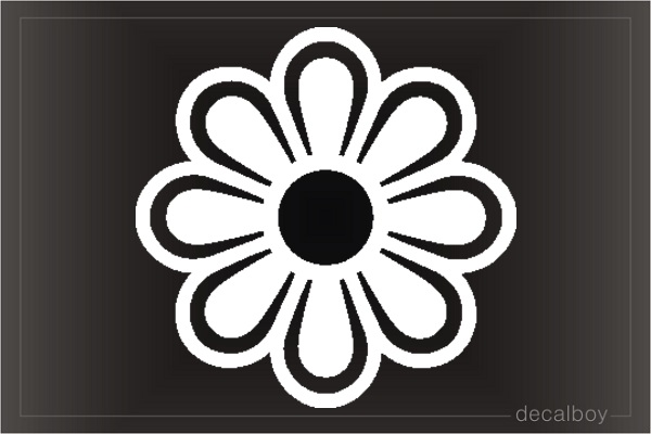 Daisy Flower 2 Window Decal