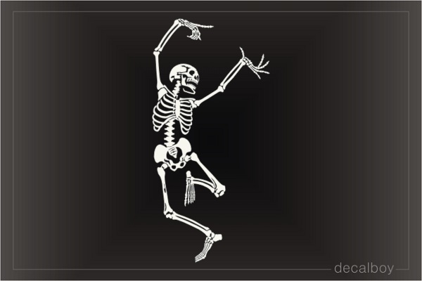 Dancing Skeleton Decal