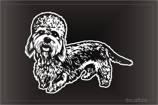 Dandie Dinmont Terrier Dog Face Decal
