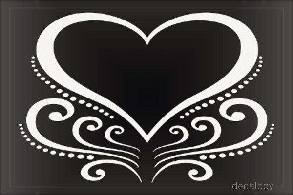 Decorative Heart Decal