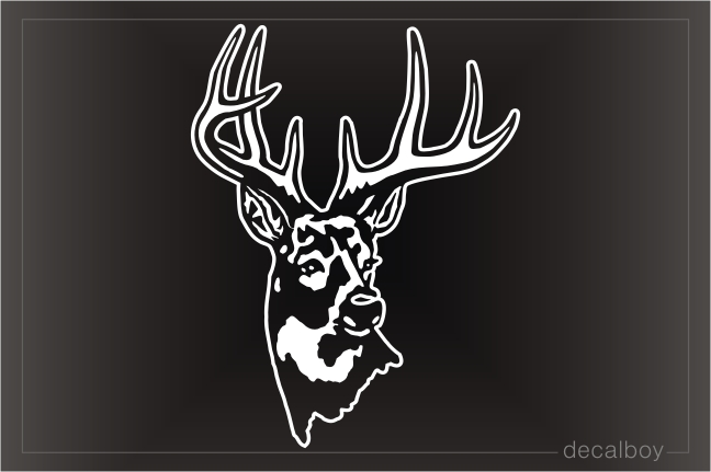 Deer Head Window Decal