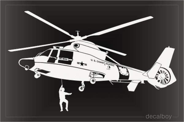Dolphin Helicopter Decal