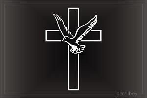 Dove And Cross Decal