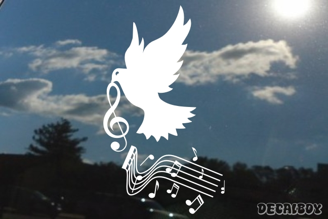 Dove Music Notes Decal