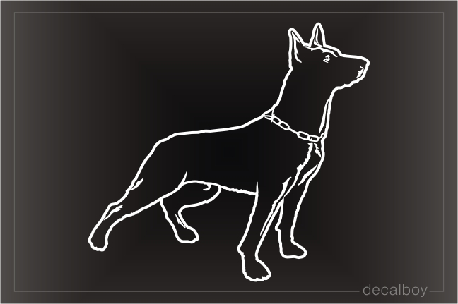 Dutch Shepherd Dog Decal