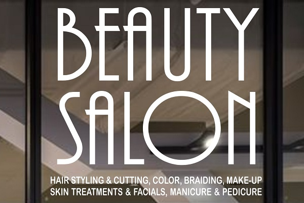 Elegant Beauty Salons Decal