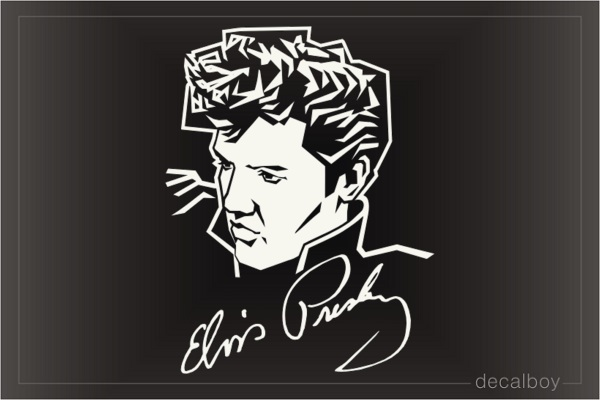 Elvis Signature Decal