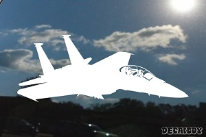 F 15e Strike Fighter Airplane Car Decal