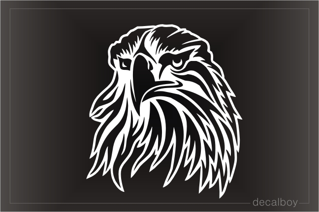 Falcon Head Decal