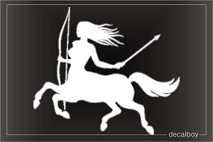 Female Centaur Car Decal