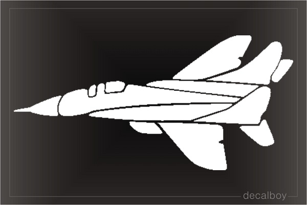 Fighter Plane Car Decal