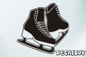 Figure Ice Skates Decal