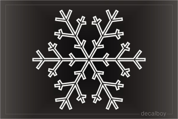 Fine Snowflake Decal