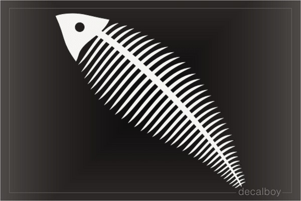Fish Skeleton Decal