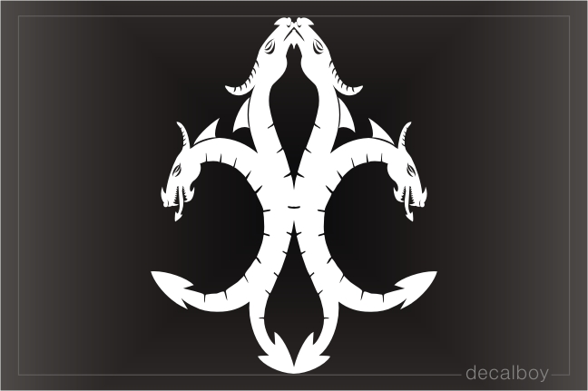 Fleur De Lis Dragons Sign Decal