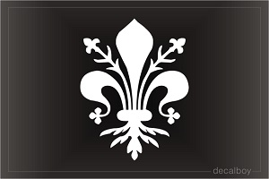 Fleur De Lis Flower Car Decal