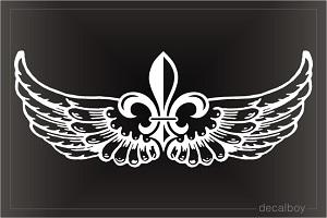 Fleur De Lis Wings Decal