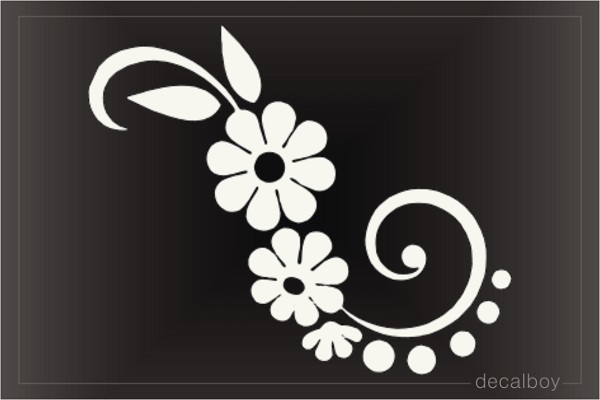 Flower Tattoo 77 Window Decal