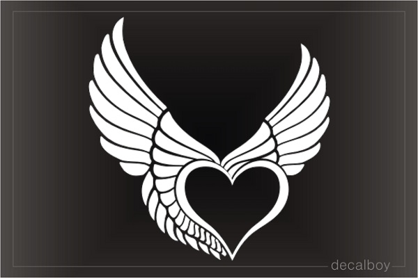 Flying Heart Wings Die-cut Decal