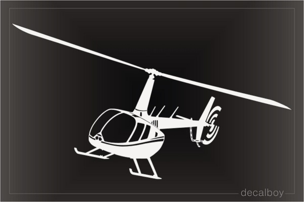 Flying Robinson Helicopter Decal