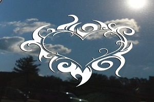 Gothic Heart Flames Decal