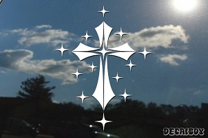 Gothic Cross Stars Decal