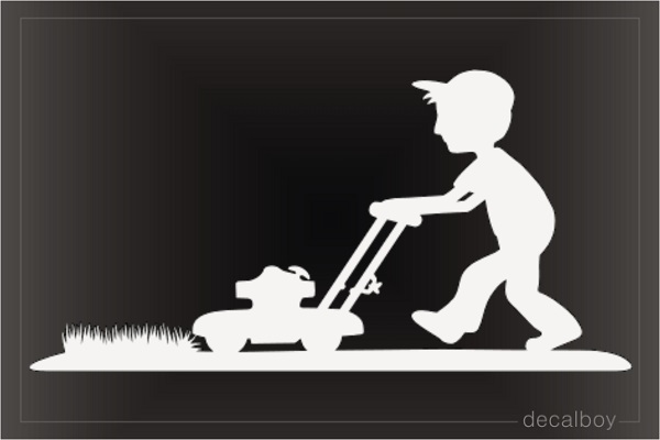 Grass Mowing Service Decal
