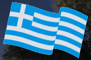 Greek Flag Car Decal