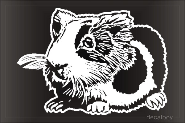 Guinea Pig Pet Window Decal