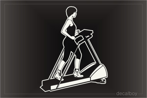 Gym Training Device Treadmill Car Decal