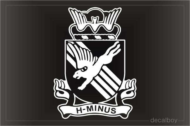 H Minus Parachute Patch Decal